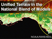 Unified Terrain in the National Blend of Models