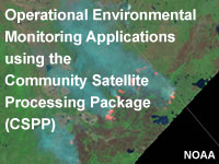 Operational Environmental Monitoring Applications using the Community Satellite Processing Package (CSPP)