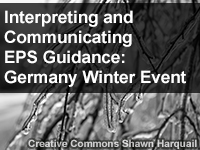 Interpreting and Communicating EPS Guidance: Germany Winter Event