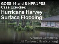 GOES-16 and S-NPP/JPSS Case Exercise: Hurricane Harvey Surface Flooding