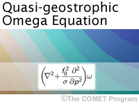 Quasi Geostrophic Omega Equation