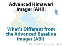 Advanced Himawari Imager (AHI): What's Different from the GOES-R Advanced Baseline Imager (ABI)