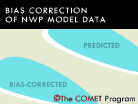 Bias Correction of NWP Model Data