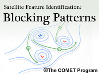 Satellite Feature Identification: Blocking Patterns