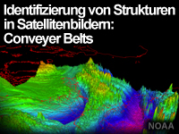 Identifizierung von Strukturen in Satellitenbildern: Conveyor Belts