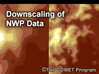 Downscaling of NWP Data