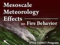 Mesoscale Meteorology Effects on Fire Behavior