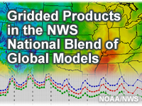 Gridded Products in the NWS National Blend of Global Models