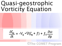 Quasi Geostrophic Vorticity Equation