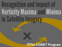 Recognition and Impact of Vorticity Maxima and Minima in Satellite Imagery