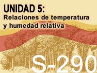 S-290, Unidad 5: Relaciones de temperatura y humedad relativa