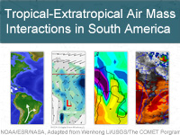 Tropical-Extratropical Air Mass Interactions in South America